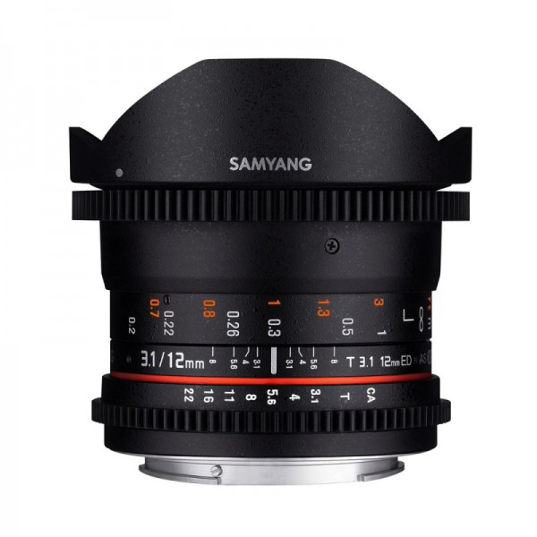 samyang optics 12mm t3.1 vdslr fisheye