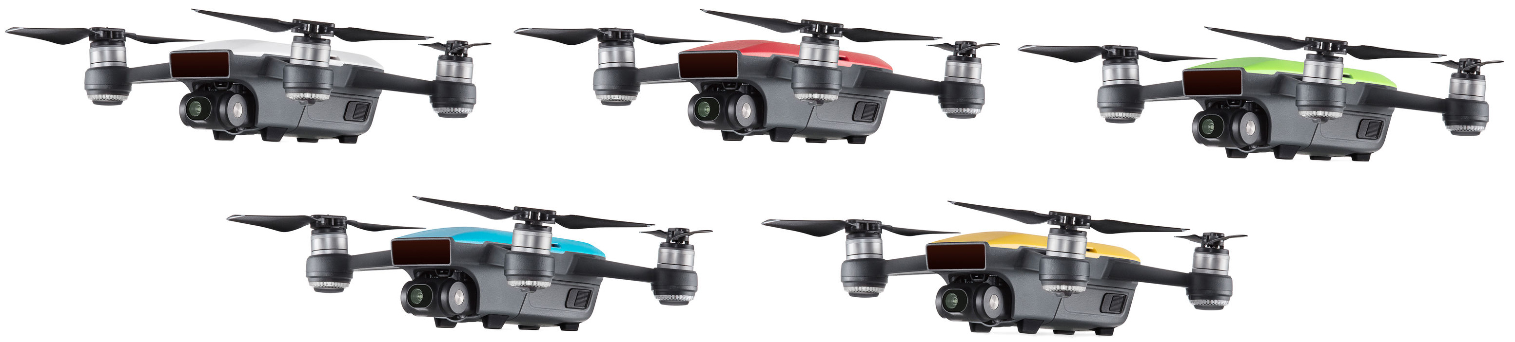 Dji Spark Quadcopter Alpine White Lava Red Meadow Green Sky Sunrise Yellow Preview
