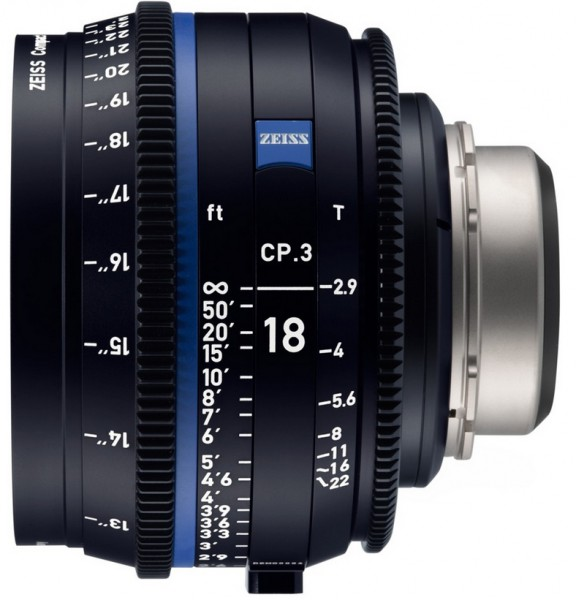 Zeiss Compact Prime CP.3 18mm/T2.9