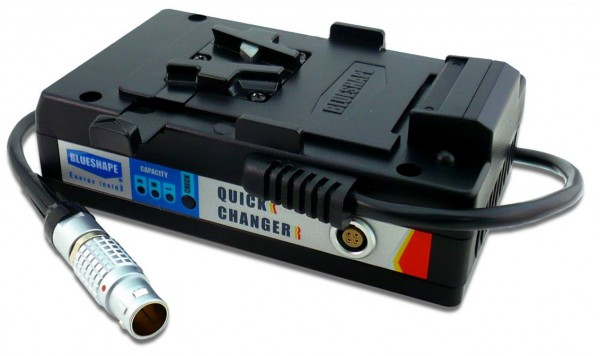 BlueShape MVQUICKR Battery Hot Swap system
